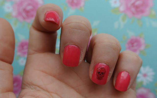 sugar skull nail decal swatch