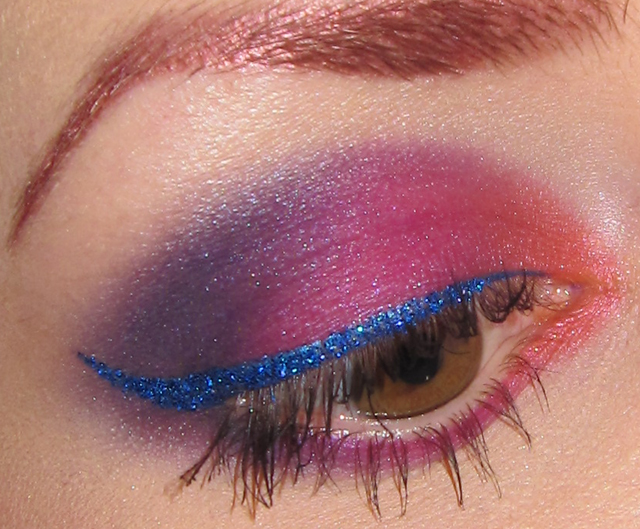 Glitter Is My Crack Orange Pink Purple And Blue Glitter Eye