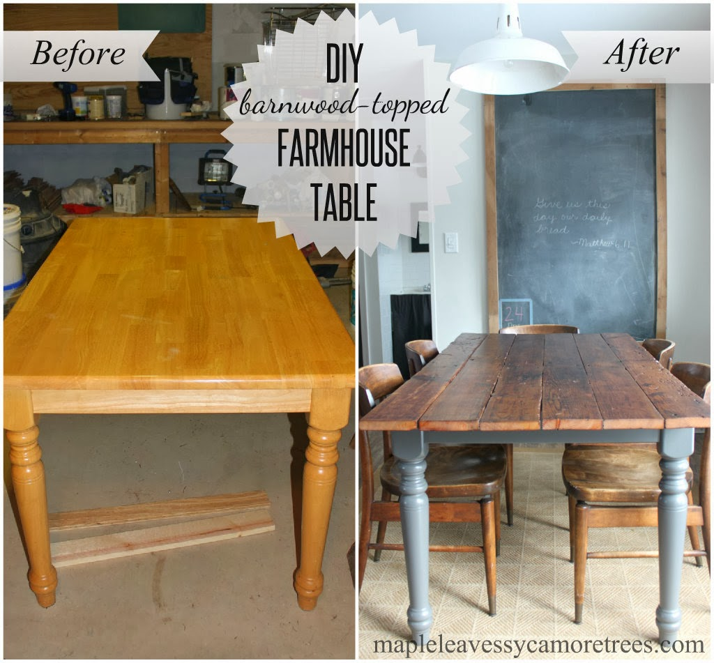 maple leaves sycamore trees diy barnwood table