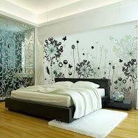 Imagen: Decoración de paredes con arte mural moderno en tela
