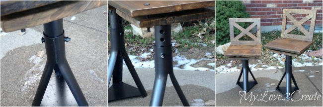 the car jack makes the chairs adjustable