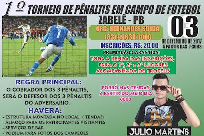 1º torneio de pênaltis em campo de futebol - Zabelê-PB