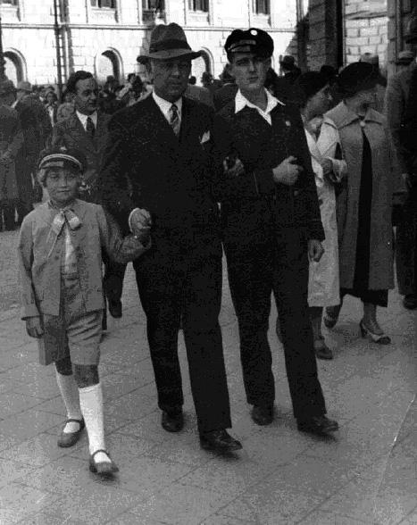 Tata, Stanisław Szybalski i Wacek. Fot. udostępnił Stanisław Szybalski