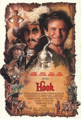 Hook, Spielberg, Robin Williams, Julia Roberts, Dustin Hoffman, Peter Pan