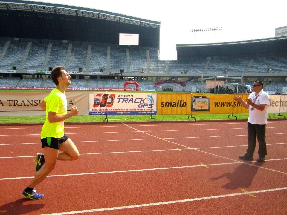 Arnold Dekani, după alergarea celor 100 km pe traseul Reşiţa - Timişoara