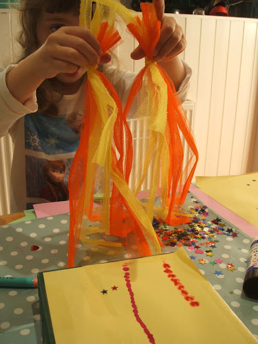rocket boosters made with upcycled netting from children's scrapstore