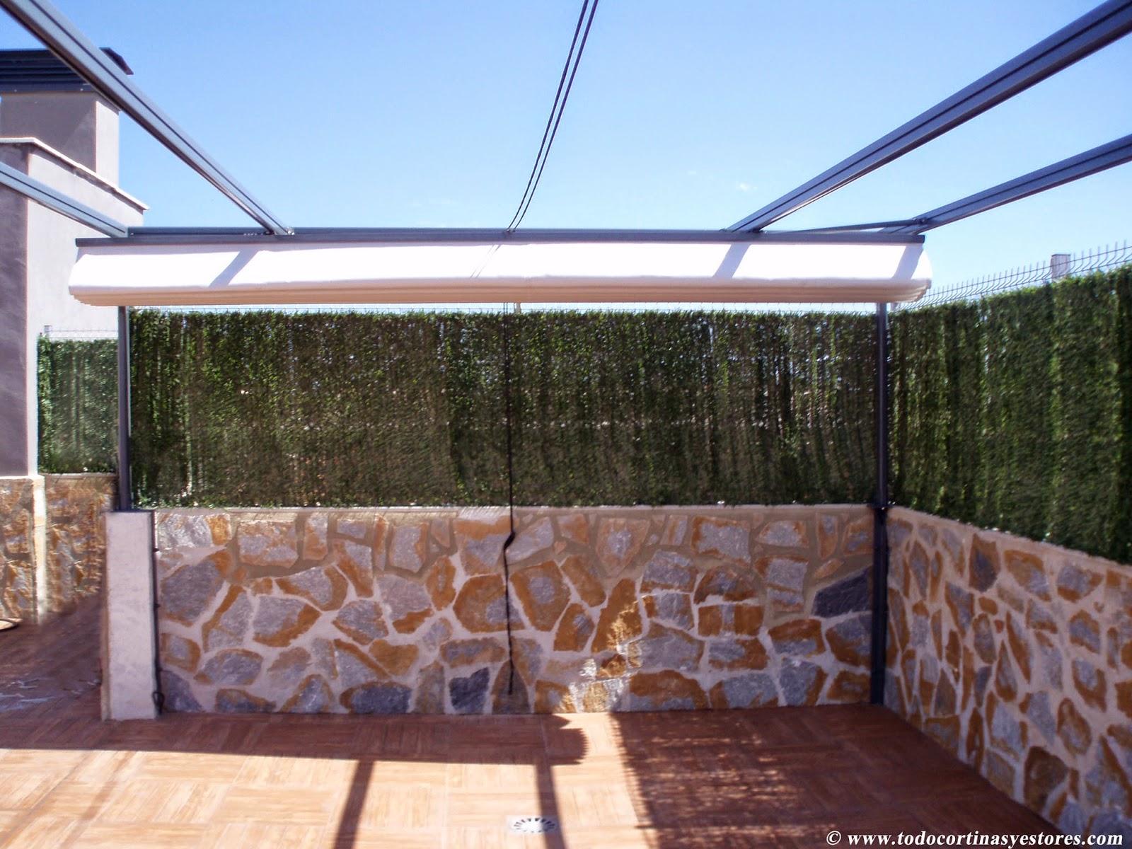 Decoracion interior cortinas verticales estores - Aluminio para pergolas ...