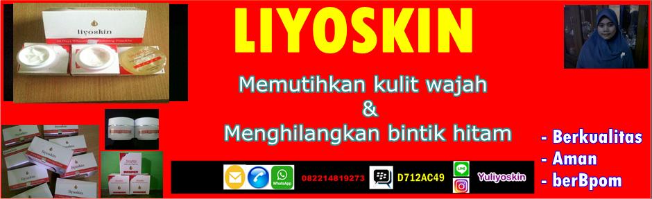 Cream wajah Liyoskin: memutihkan,menghilangkan flek bintik hitam,aman berBPOM