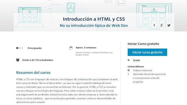 Curso Online Introducción a HTML y CSS