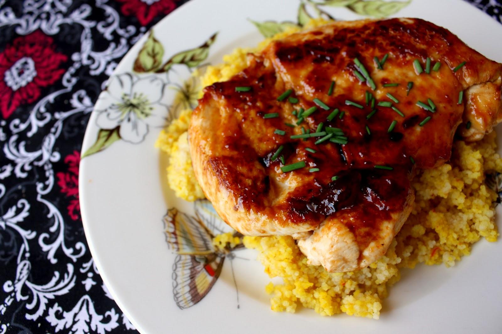 Emerald Rice Cooking: sriracha glazed chicken
