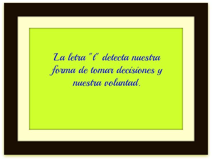 """Letra """"t"""", su significado en grafología"""