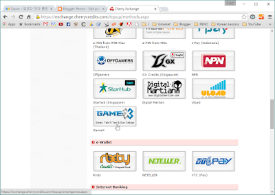 Select GameX under e-PIN