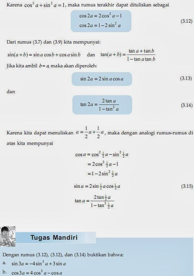 Matematika Di Sma Rumus Trigonometri Sudut Rangkap