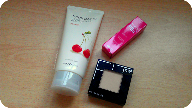 haul ft. Maybelline Fit Me face powder, Skin79 Super+ BB Cream, Herb Day 365 Cleansing Foam