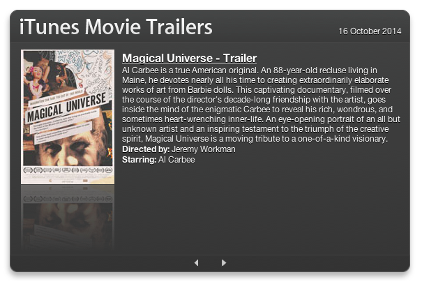 49. iTunes Movie Trailers