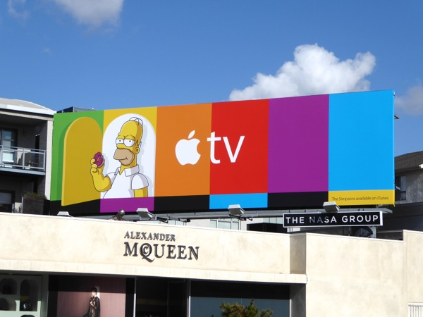 Homer Simpson Apple TV billboard