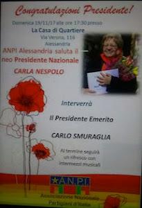 Congratulazioni, Presidente Carla Nespolo.