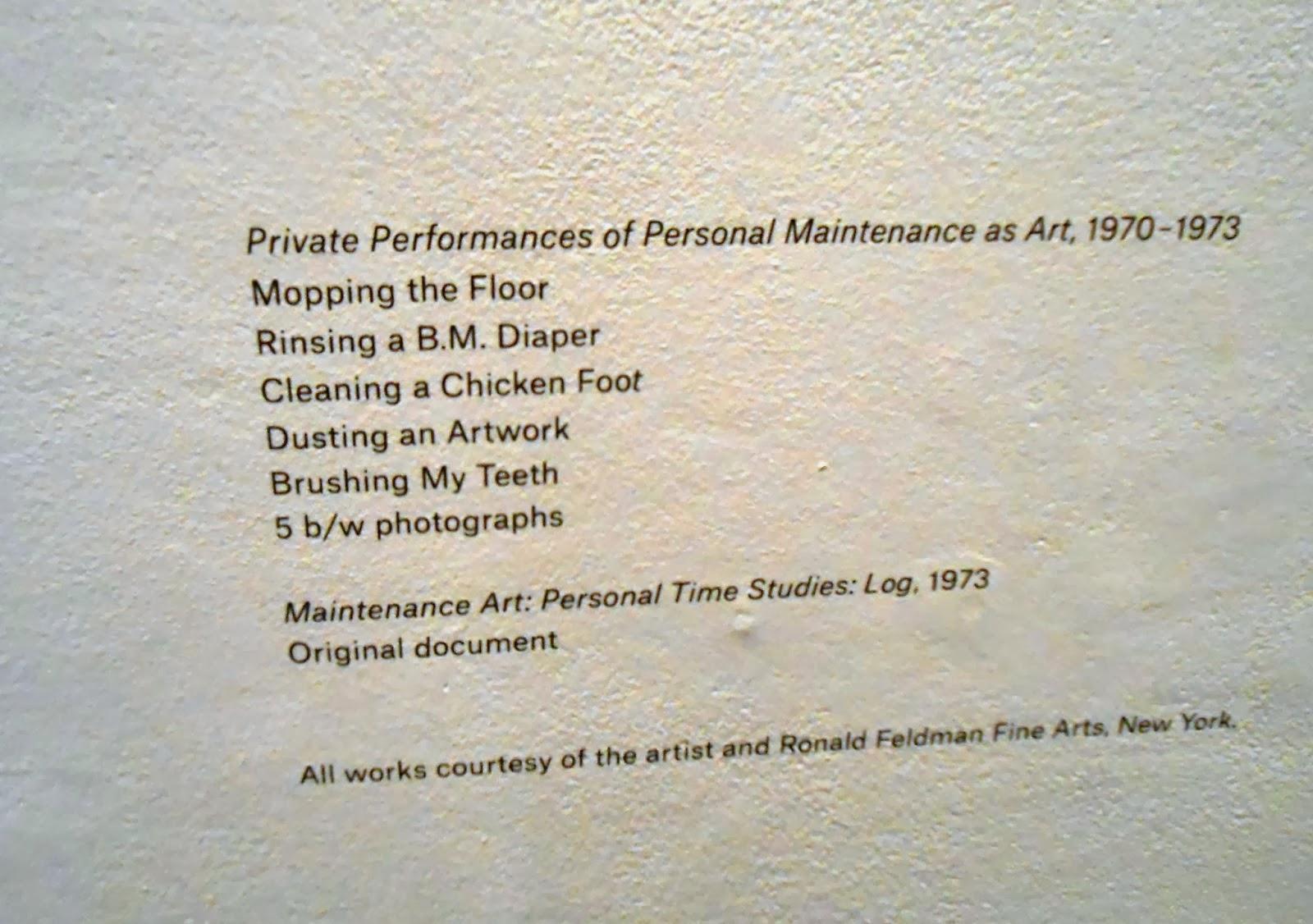 ukeles maintenance art manifesto pdf
