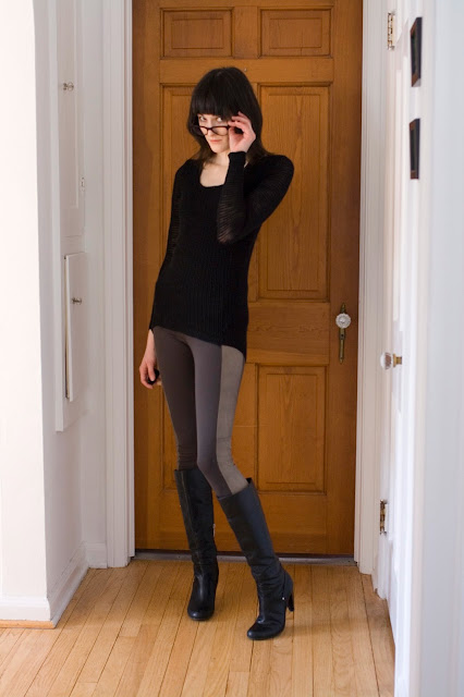 Bombasine- Sweater: Mossimo/Leggings: Alice + Olivia/Boots: Guess