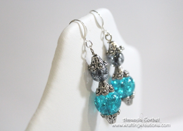 Turquoise and Smoke Earrings