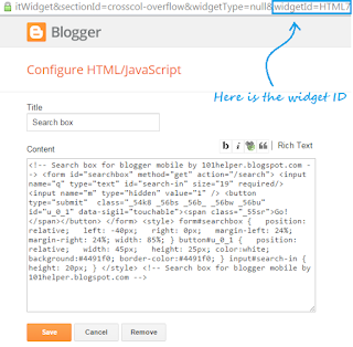 how-to-find-id-of-a-widget-in-blogger