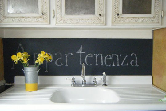 BOISERIE & C.: Pittura Lavagna - Chalk Board Paint: 27 nuove idee