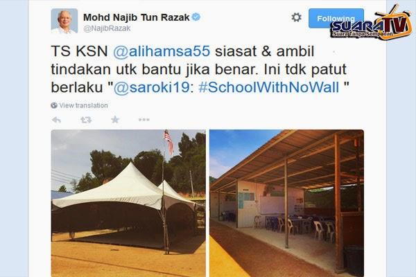 Siasat Dakwaan Sekolah Tiada Dinding Di Sabah PM