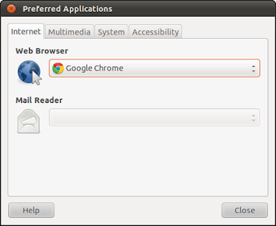 Set default browser for Ubuntu Linux