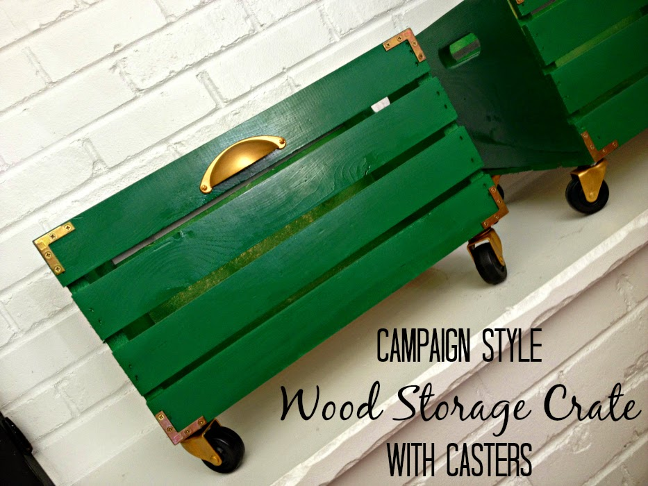 10 COLORFUL Before and After Features : Campaign Style meets Wooden Storage Crate
