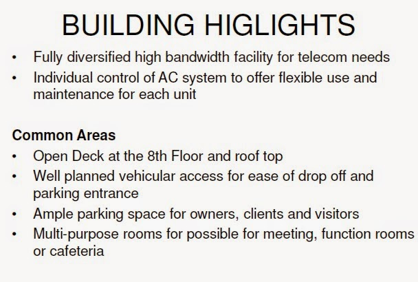 Building Highlights of Capital House New Office Building in Bonifacio Global City