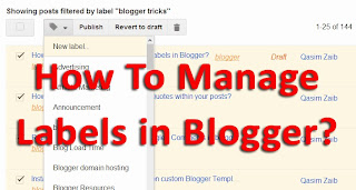 How To Manage Labels in Blogger?