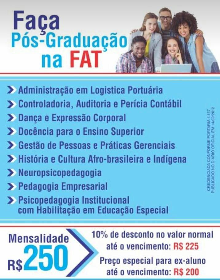 Pós-graduação na FAT