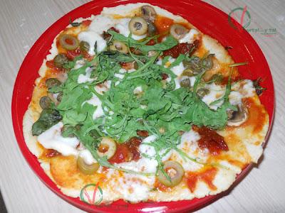 Pizza rápida en sartén.