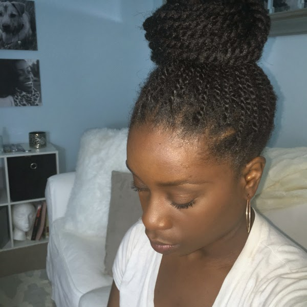Pound Cake Hair Of The Day Faux Twisted Bun