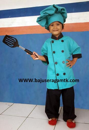 baju profesi anak baju koki anak