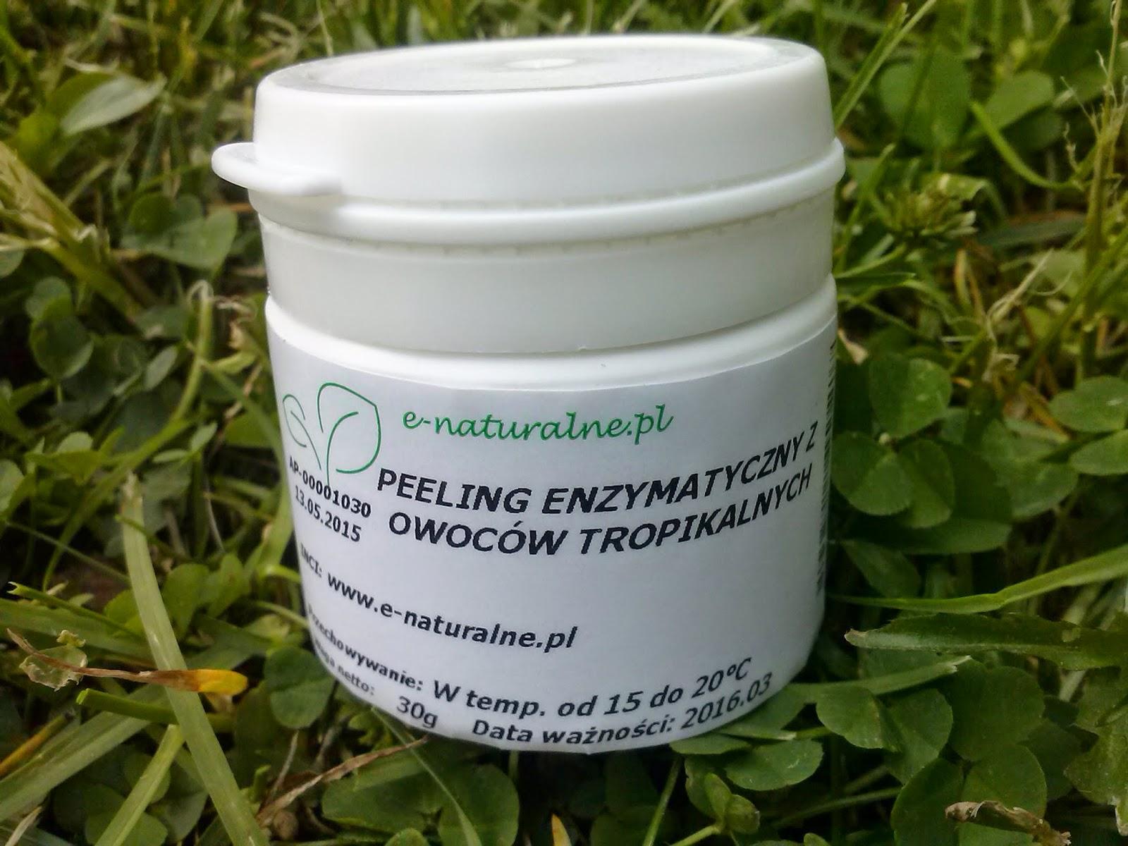 e-naturalne.pl: Peeling enzymatyczny i maska algowa z kakao