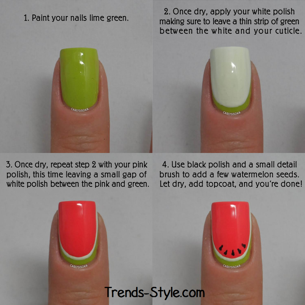 Watermelon Nail Art Tutorial ~ Entertainment News, Photos & Videos ...