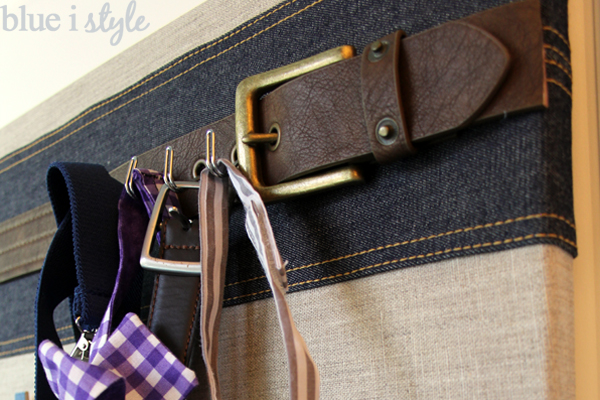 Back of door organization for boys belts and ties