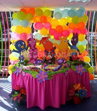 Children parties backyardigans decoration for Backyardigans party decoration