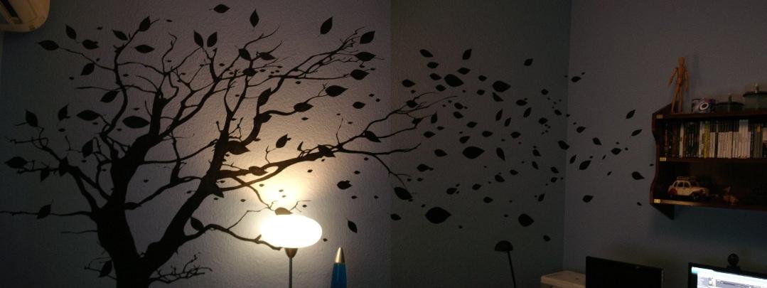 Decoracion arbol pintado en la pared - Murales pintados en la pared ...