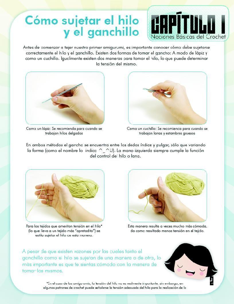 Curso basico de amigurumi ~ Crochetadas