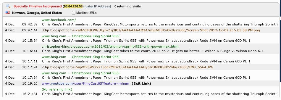 Chris Kings First Amendment Page KingCast Motorsports