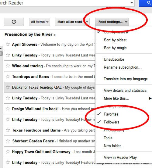 Google Reader favorites