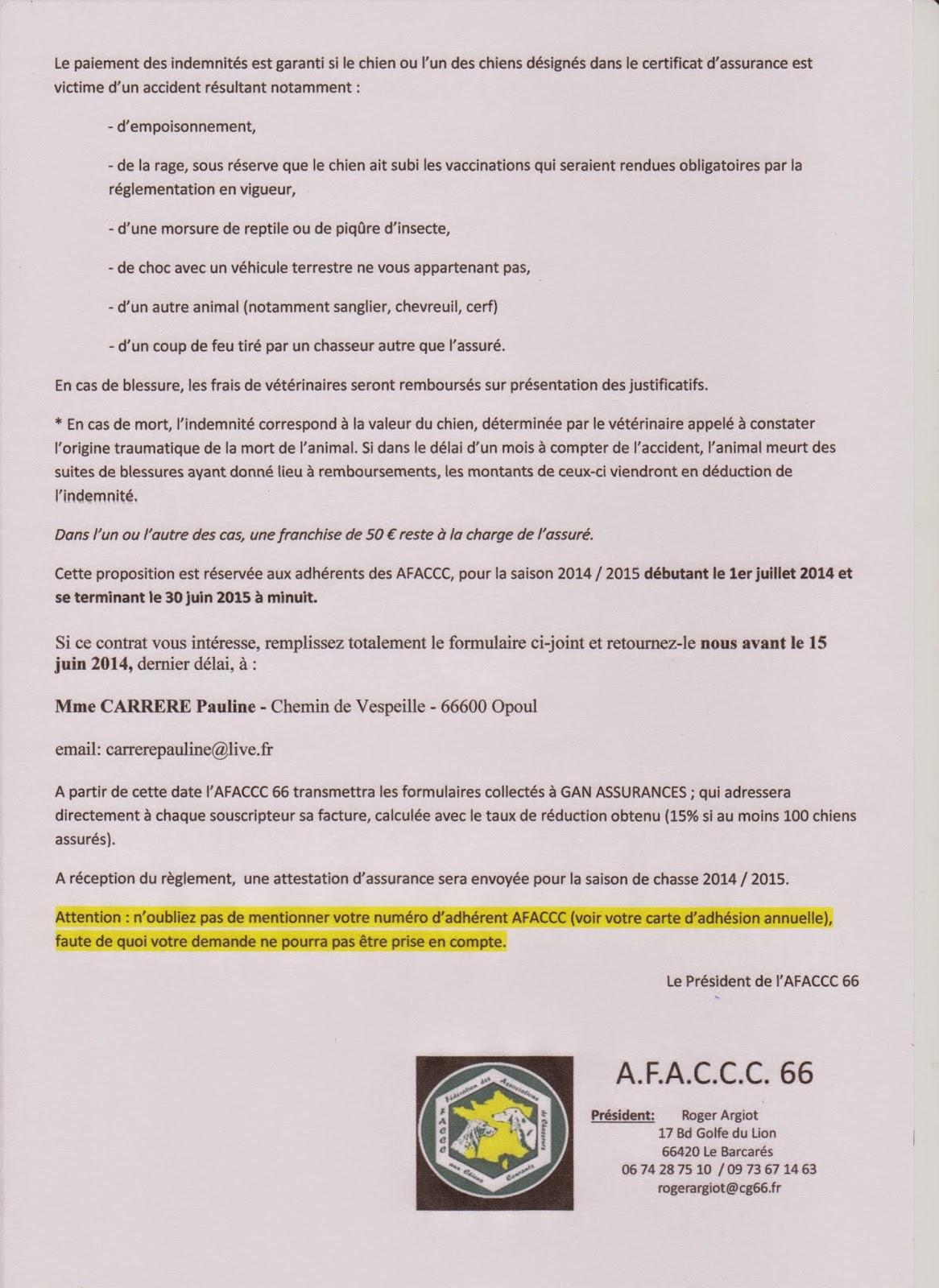 AFACCC 66: Assurance GAN chiens