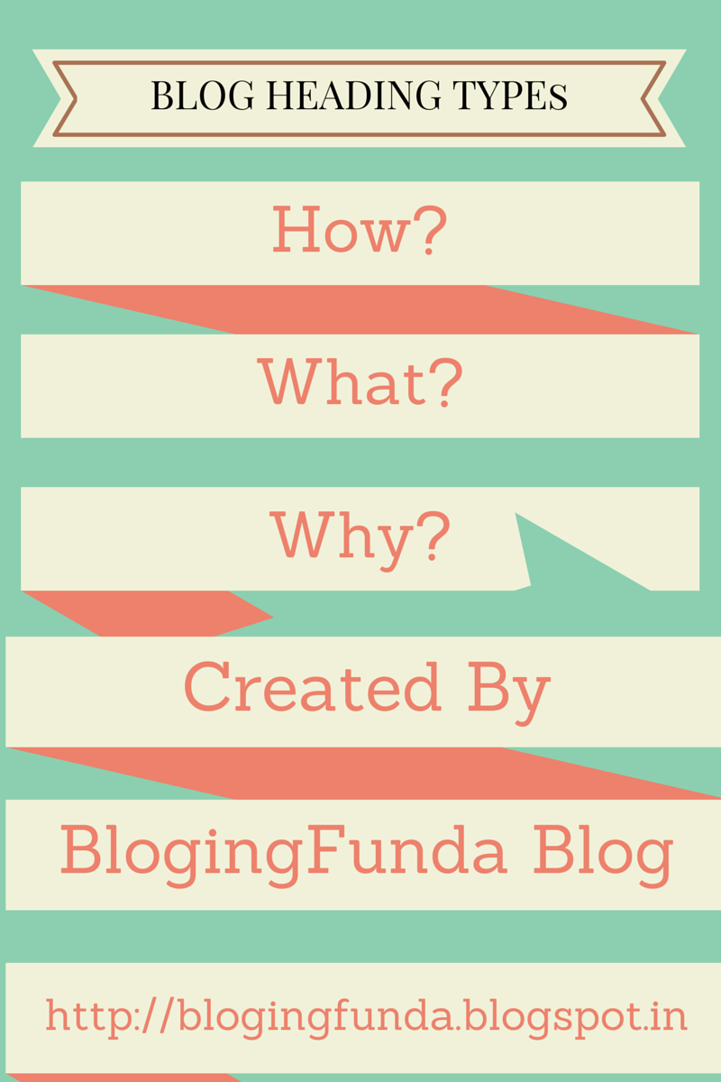 Heading Types of Blog Post by BlogingFunda.blogspot.in