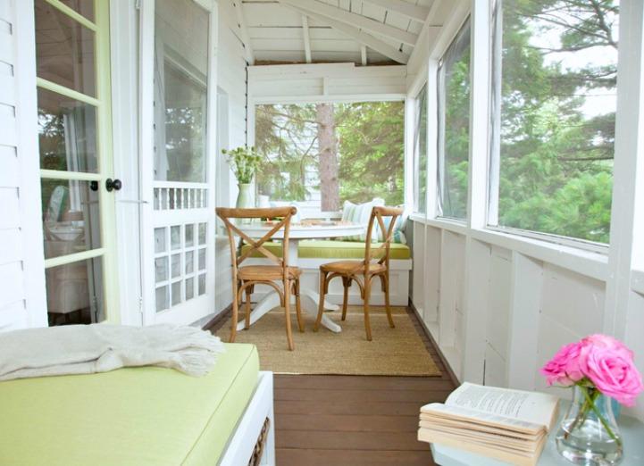 Coastal cottage lake house porch