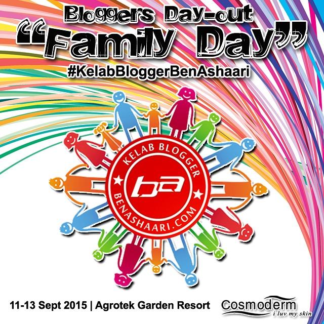 Family Day Kelab Blogger Ben Ashaari Di Agrotek Garden Resort