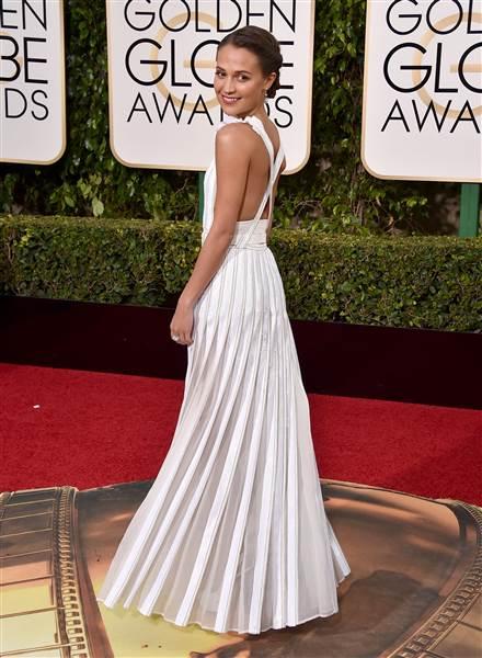 Alicia Vikander Louis Vuitton Golden Globes 2016