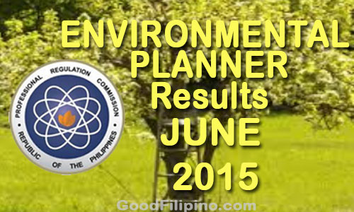 June 2015 Environmental Planner board exam results released