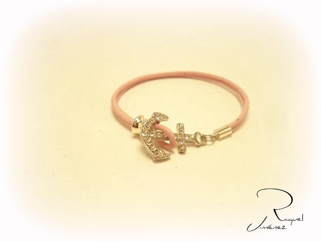 pulsera-ancla-cuero.-rosa
